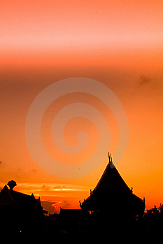 Silhouette Of The Roof ,THAILAND Stock Images - Image: 22905194