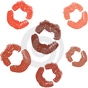 Lipstick Kiss Stock Photos - Image: 22910753