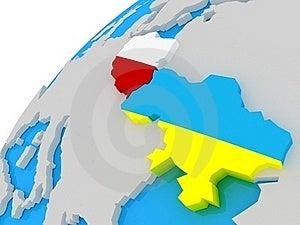 The Flag Of Ukraine And Poland Royalty Free Stock Image - Image: 22913746