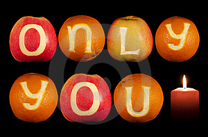 Words ONLY YOU And A Candle Stock Photo - Image: 22925600