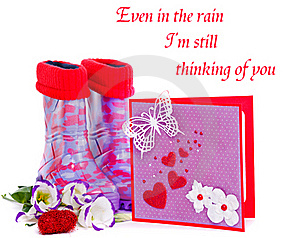 Rubber Boots And Greeting Card Stock Images - Image: 22927834