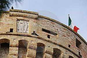 Top Of The Tower, Acquaviva Picena's Fortress Stock Photography - Image: 22944532