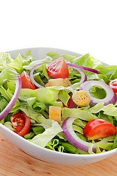 International Green Salad Whit Tomato End Union Stock Images - Image: 22945144
