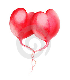 Heart-shaped Red Radishes Stock Images - Image: 22946634