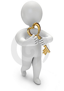 Person Holds The Golden Key Stock Photo - Image: 22947660