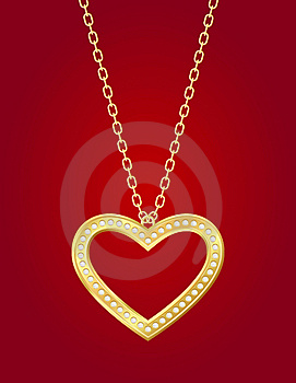 Golden Heart Stock Photo - Image: 22949100