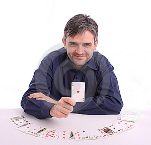Card Player Royalty Free Stock Photos - Image: 22949748