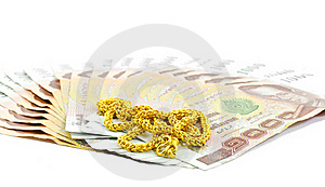 Gold Chain Royalty Free Stock Images - Image: 22953109