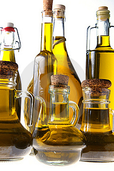 Bottles Of Extra Virgin Olive Oil Stock Photo - Image: 22955900