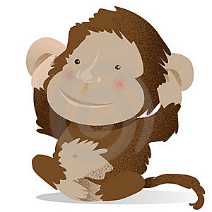 Monkey Royalty Free Stock Image - Image: 22956696