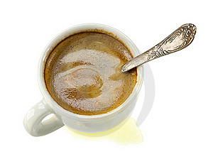 White Cup Of Coffee Stock Images - Image: 22957154