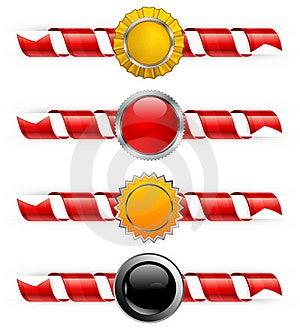 Spiral Ribbon & Label Royalty Free Stock Photos - Image: 22961648