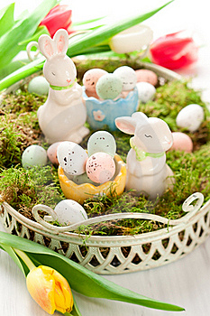 Easter Bunny And Chocolate Eggs Stock Image - Image: 22962681