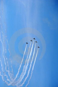 Air Force Acrobatic Team Royalty Free Stock Image - Image: 22964916