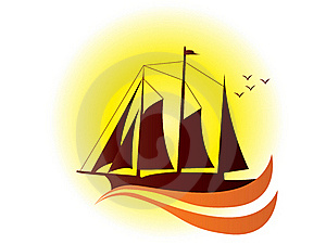 Yacht - Logo Stock Photos - Image: 22965203