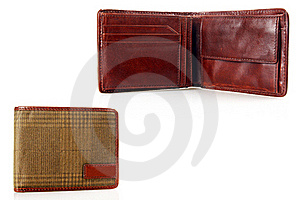 Men's Leather Wallet. Royalty Free Stock Photography - Image: 22969407