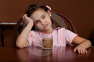 8 Year Old Girl With Coffee Royalty Free Stock Photo - Image: 22971425