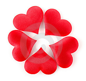 Composition Of Silk Heart Stock Image - Image: 22972221