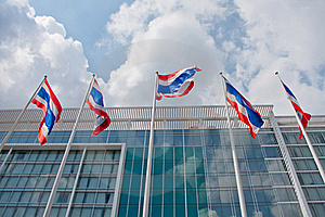 Thai National  Flags Royalty Free Stock Image - Image: 22975246