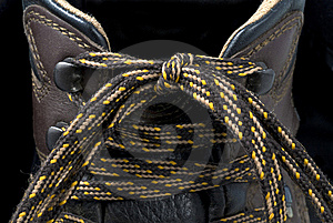 Hiking Boot Laces Stock Photo - Image: 22983690