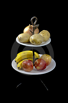 Fruits And Vegetables On A Stand Stock Images - Image: 22983704