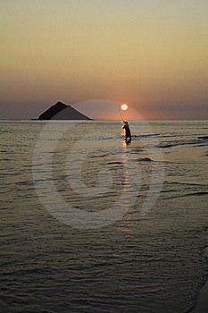 Fisherman At Sunrise Stock Images - Image: 22995524