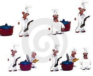 快乐的主厨黏土做 免版税库存照片 - 图片: 22998215