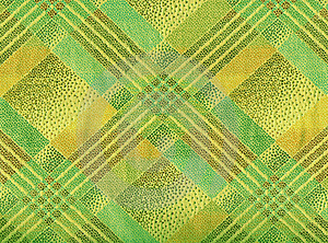 Yellow And Green  Tartan Textile; Stock Images - Image: 22999494