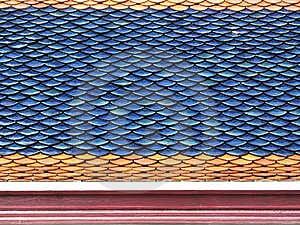 Tuiles de toit en gros plan Images libres de droits