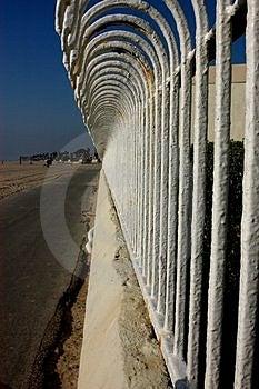 Der Zaun Stockfoto