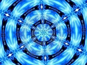 Blaues Kaleidoskop Stockfoto