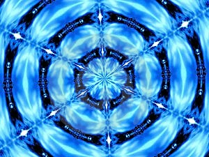 Stock Photo - Blue Kaleidoscope