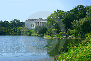 Museum By A Lake Royalty Free Stock Photos