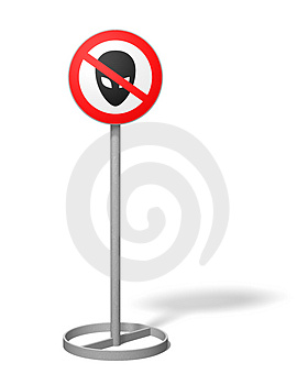 Alien Free Zone Stock Photography