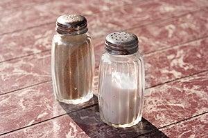 Αλάτι & πιπέρι Στοκ Φωτογραφίες