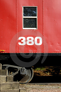 Rode Caboose Stock Foto