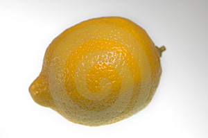 Closeup Of A Whole Lemon Stock Images