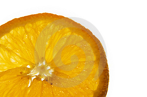 Macro Of An Orange Slice Stock Image