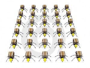Udziały mrówka pracownicy Zdjęcia Stock