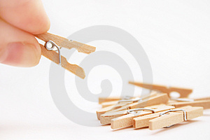 Clothespin Free Stock Photography