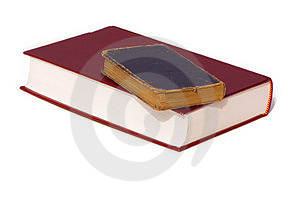 Bibles on top of each other Royalty Free Stock Image