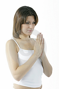Young Spiritual Woman Stock Photo