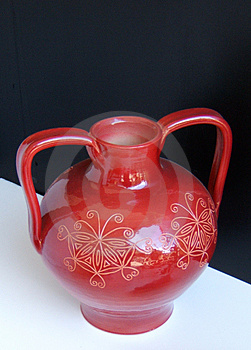 Vase rouge Photos stock