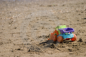 Toy On The Beach Free Stock Image