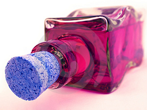 Pink Bottle Royalty Free Stock Photography