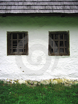 Two Windows On A House Free Stock Photo