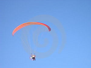 Paraglider Obrazy Royalty Free