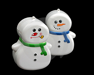 Snowmen Toys Stock Photos