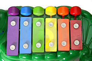 Kid's Xylophone Alligator Free Stock Photos