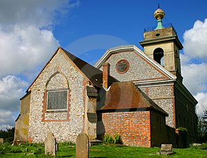 English Village Church Stock Image